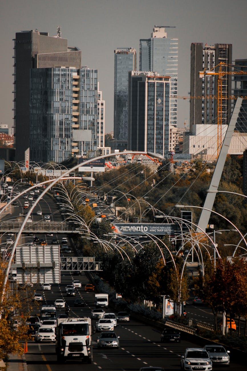 city cars road traffic
